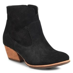 Kork-Ease Ankle Boots Black Leather Perforated 8.5